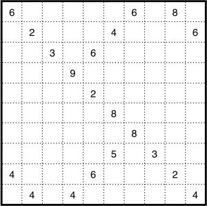 Medium Shikaku puzzle