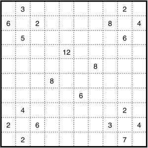 Hard Shikaku puzzle