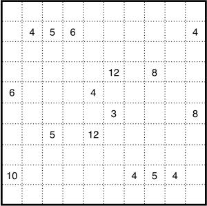 Easy Shikaku puzzle